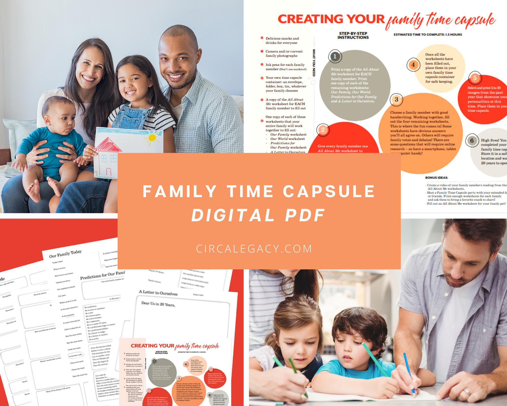 Digital PDF - Family Time Capsule Kit