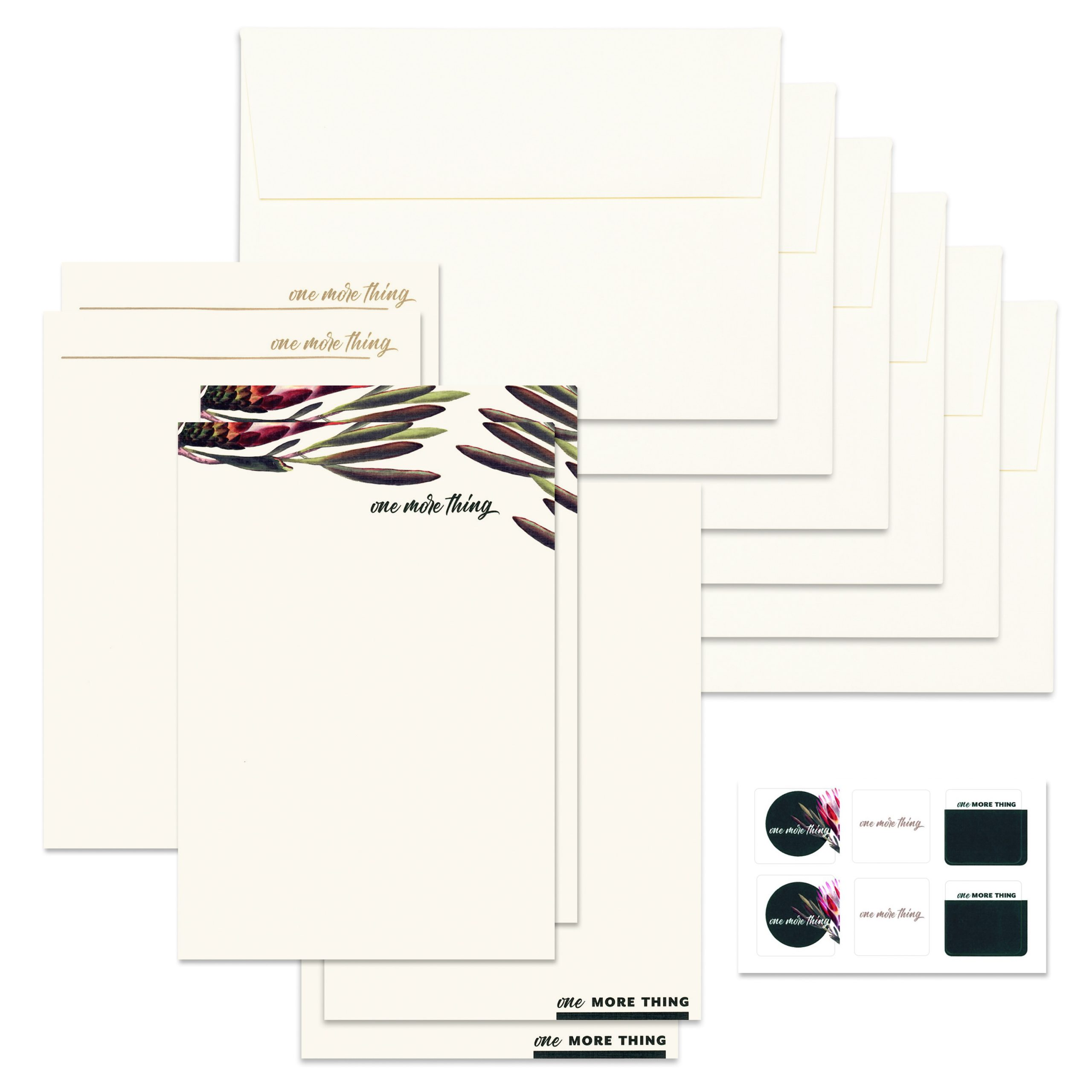 Six notecards, six envelopes and six stickers for the Things You Need to Know Kit created by Circa Legacy