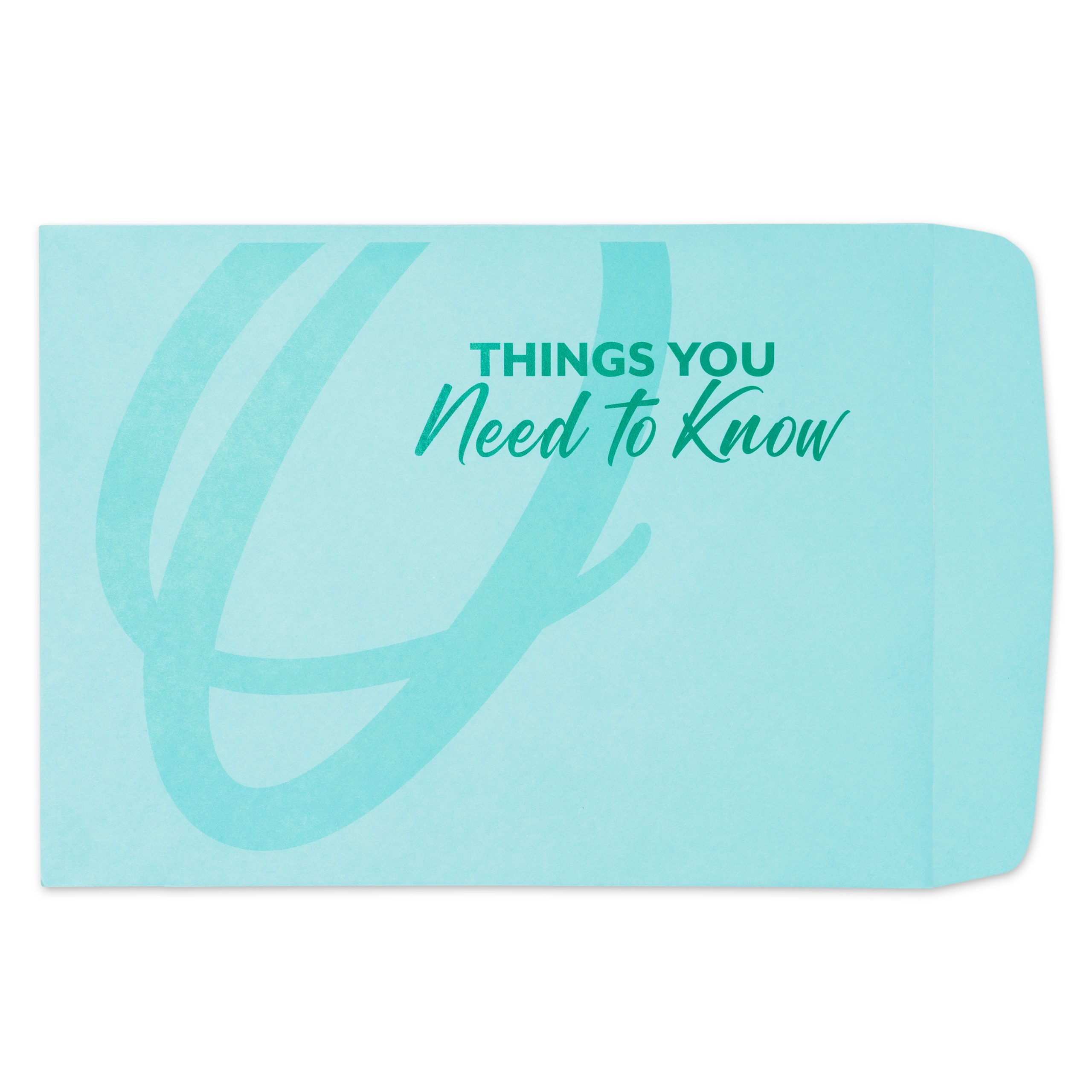 Berry blue Things You Need to Know envelope created by Circa Legacy