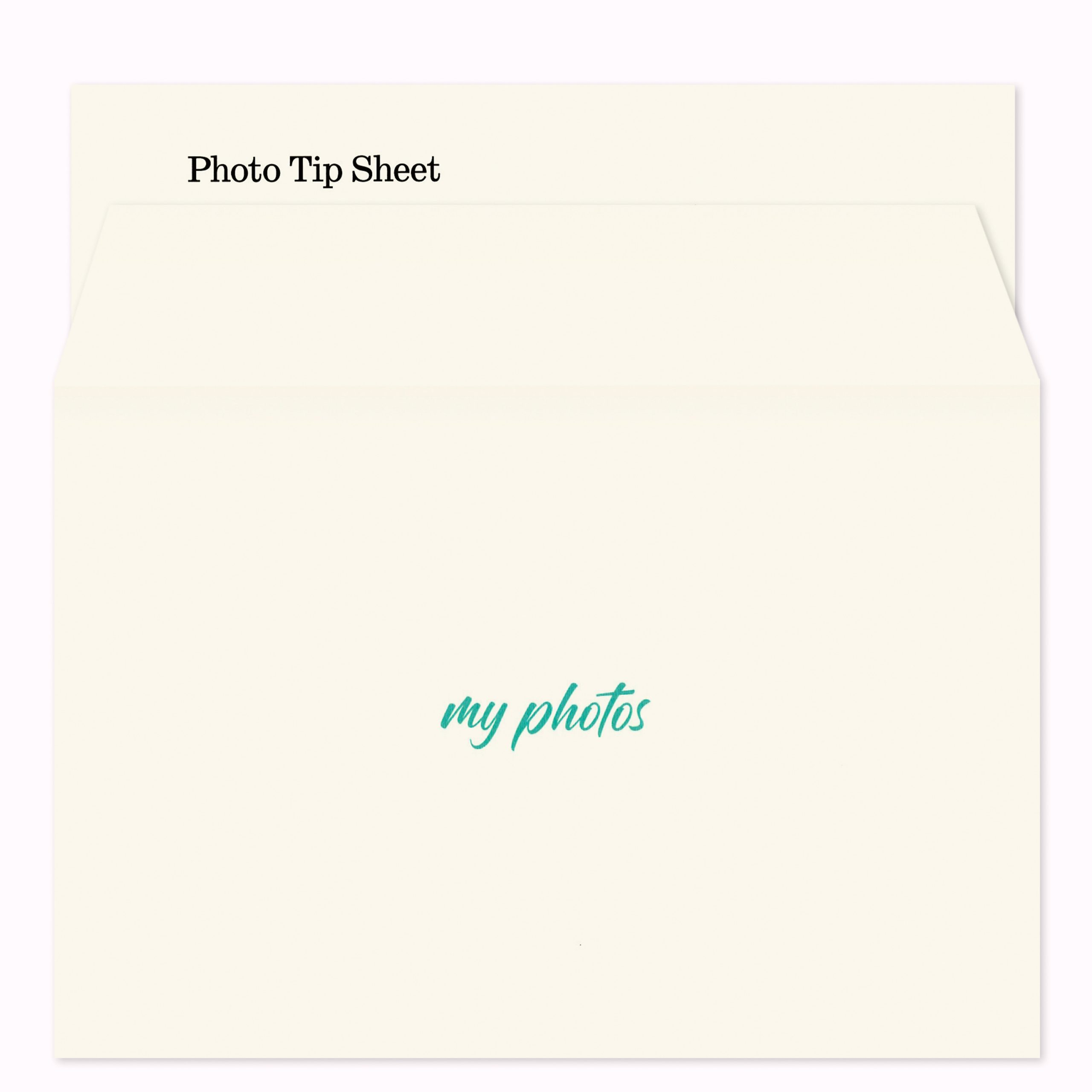 One cream-colored My Photos envelope and one Photo Tip Sheet for the Things You Need to Know Kit created by Circa Legacy